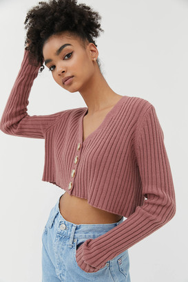 Urban Outfitters Lucky V-Neck Cropped Cardigan