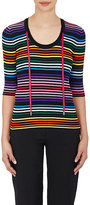 Marc Jacobs Women's Drawstring Striped Cotton Knit Top