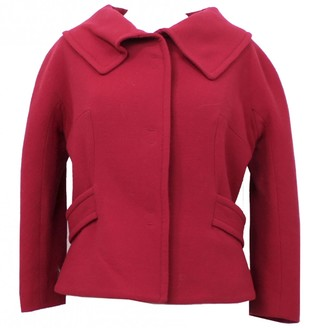 Giambattista Valli Red Wool Jacket for Women