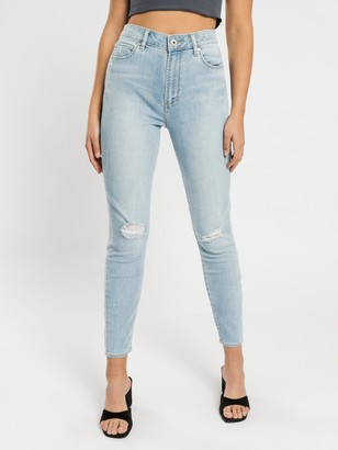 Articles of Society High Lisa Skinny Ankle Hug Jeans in Summer Blues Denim