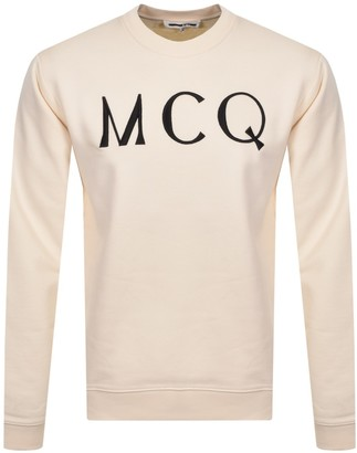McQ Logo Sweatshirt Cream