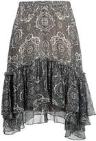 Chloé tile print ruffled skirt