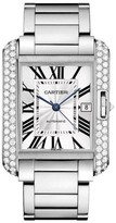Cartier Tank Anglaise Large Wt100010 18K White Gold Watch