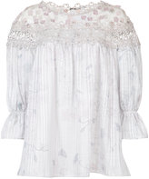 Elie Tahari embroidered blouse - women - Polyester/Cotton/Silk - XS