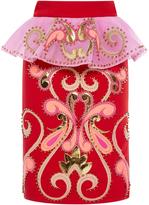Manish Arora Rodeo Bling Ruffle Pencil Skirt