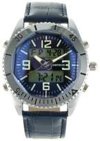 Timetech Men's 2813BL Analog Digital Leather Sport Watch