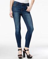 Vanilla Star Juniors' Frayed-Hem Ankle-Zipper Skinny Jeans