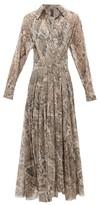 Norma Kamali Snake-print Jersey Wrap Dress - Womens - Grey Print