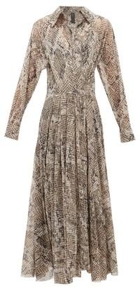 Norma Kamali Snake-print Jersey Wrap Dress - Grey Print