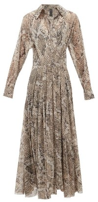 Norma Kamali Snake-print Jersey Wrap Dress - Womens - Grey Print
