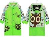 Meijunter Cute Boys Girl Kids Raincoat Schoolbag Seat Rainwear Student Hooded Poncho