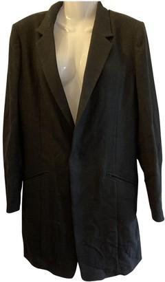 Yohji Yamamoto Black Wool Trench Coat for Women