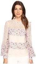 Nanette Lepore Fiore Blouse Women's Short Sleeve Pullover