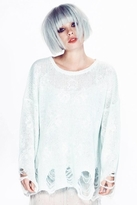 Wildfox Couture Star Clouds Lennon Sweater in Ice Cold