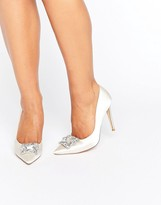 Dune Bridal Breanna Embellished Satin Court Shoes