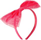 Kate Spade Bow Headband Glitter (Baby) - Cabaret Pink - One Size