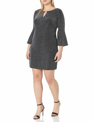 Jessica Howard Women's Size Keyhole Neck Shift Dress