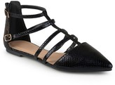 Women's Journee Collection Kenya Strappy Pointed Toe Flats