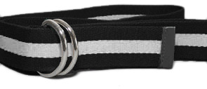 Fully Laced Classic Striped Belt - Blk/Wht/Blk