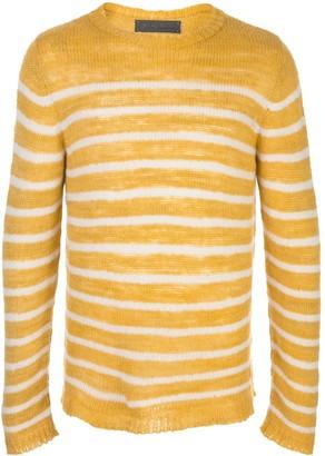The Elder Statesman Picasso cashmere striped jumper