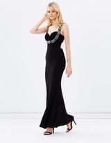 Beaded Evening Dress with Low Back