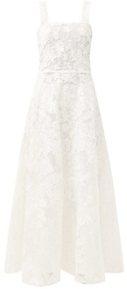 Gioia Bini Lucinda Square-neck Macrame-lace Maxi Dress - White
