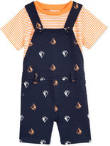 First Impressions 2-Pc. T-Shirt & Boat-Print Shortall Set, Baby Boys (0-24 months), Only at Macy's