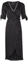 Topshop Jacquard Wrap Midi Dress