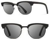 Shwood Women's 'Eugene' 54Mm Wood Sunglasses - Dark Walnut/ Grey