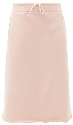 Jil Sander Logo-embroidered Cotton-terry Midi Skirt - Pink