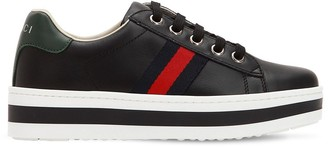 Gucci New Ace Platform Leather Sneakers