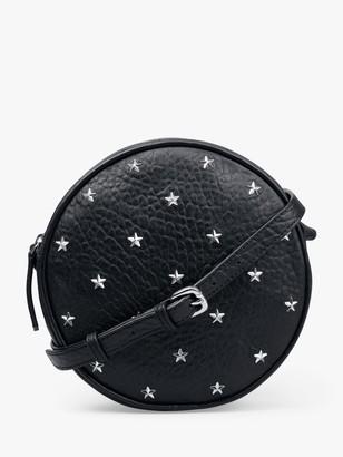 Hush Julietta Star Detail Round Leather Cross Body Bag, Black