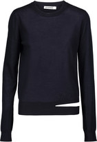 Jil Sander Cutout cashmere and silk-blend sweater