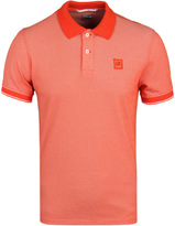 Cp Company Red Tacting Short Sleeve Polo Shirt