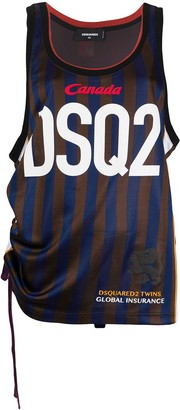 DSQUARED2 Striped Basketball Vest