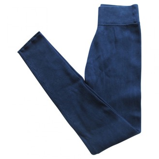 A.P.C. Navy Silk Trousers