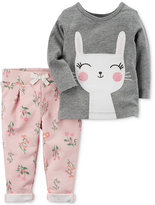 Carter's 2-Pc. Bunny T-Shirt and Floral-Print Pants Set, Baby Girls (0-24 months)