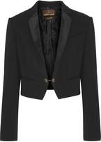 Roberto Cavalli Silk twill-trimmed crepe blazer