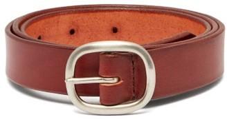 Maximum Henry - Patinated-leather Belt - Mens - Burgundy