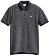 Levi's Housemark Stripe Polo Shirt, Dark Grey Heather/night Sky