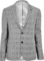River Island Ecru Skinny Fit Suit Jacket