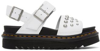 Dr. Martens White Stud Voss Sandals