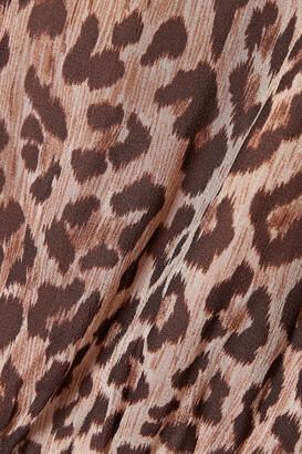 Rixo Saffron Printed Silk Crepe De Chine And Chiffon Midi Dress - Black