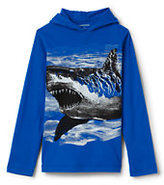 Lands' End Boys Husky Long Sleeve Graphic Hoodie-Tibetan Red Hockey Mask