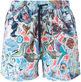 Etro tattoo print swim shorts