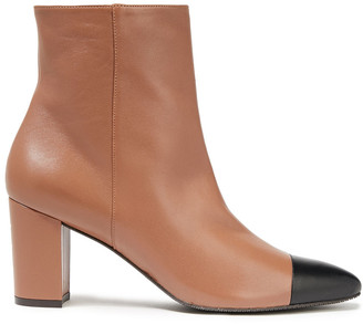 Stuart Weitzman Jill Two-tone Leather Ankle Boots