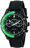 Jack Spade Men's WURU0111 Wilkins Black Stainless Steel Watch with Black Silicone Band