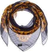 Chanel Green Chain Silk Scarf