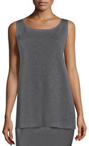 Eileen Fisher Washable Wool Crepe Long Tank