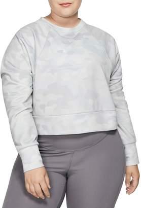Nike Dri-Fit Rebel Camo Fleece Cropped Sweatshirt